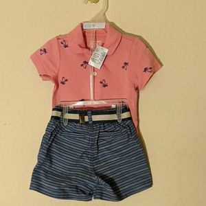 Palm Polo with matching shorts
